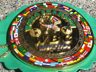 WBC World Kickboxing Championship belt worn by champion Miriam Nakamoto