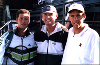 Bill Cole with members of Israeli Davis Cup Team