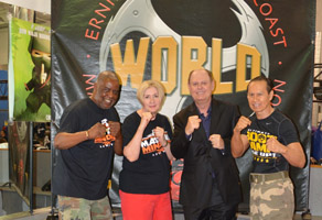 Master Tony Thompson, Dr. Linda Mitchell, Bill Cole, and Master Ernie Reyes